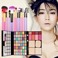 Free Shipping New Arrivals 48 Color Makeup Palette + 7PCS Makeup Brush #BSEL