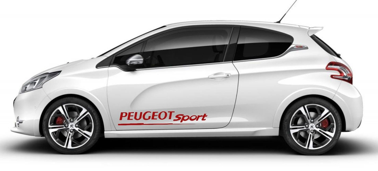 car styling for 2pcs peugeot sport door graphics racing. Black Bedroom Furniture Sets. Home Design Ideas