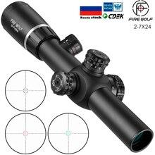 Тактический прицел Fire Wolf 2-7X24, оптический прицел для винтовки, прицелы для охоты, крепления 11 мм 20 мм, охотничий свет
