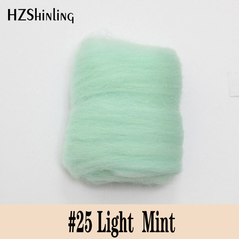 5 G Super SOFT Felting Short Fiber Wool Perfect In Needle Felt And Wet Felt Light Mint Wool DIY Handmade Material