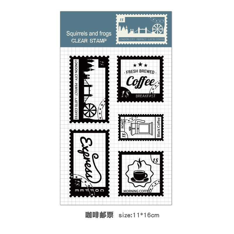 Rubber Silicone Clear Stamps for Scrapbooking Tampons Transparents Seal Background Stamp Card Making Diy Coffee stamps lovely animals and ballon design transparent clear silicone stamp for diy scrapbooking photo album clear stamp cl 278