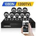 Defeway 8 1200tvl 720 p hd cctv ao ar livre sistema de câmera de segurança 1080N Home Video Surveillance Kit DVR 8 CH 1080 P HDMI saída