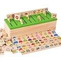 Material de Montessori Crianças Brinquedos De Madeira Caixa de Classificação Forma Ferramentas de Estilo de Jogo Jogos de Aprender-damas