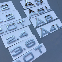 Abs Стикеры для Audi A3 A4 A4L A5 A6L A7 A8L Q3 Q5 Q7 1,8 т 2,0 2,4 2,8 3,0 Т 3,2 3,6 4,2 ремонт цифры буквы эмблема Стикеры