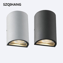 Newest Design 2x7W Gray Shell Black Warm Cold White D160x90mm Led Wall Lamp UP and Down Sconce Lights AC85-265V