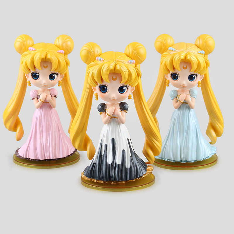 <font><b>Anime</b></font> <font><b>Sailor</b></font> <font><b>Moon</b></font> Wedding Tsukino Usagi <font><b>Princess</b></font> <font><b>Serenity</b></font> <font><b>PVC</b></font> <font><b>Action</b></font> Figure Collectible Model Toys Doll 3 Colors 15cm