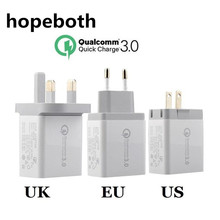 3 Ports Quick Charger QC 3.0 30W USB Wall Charger For Samsung Huawei Xiaomi LG HTC Sony Oneplus Fast Charger QC3.0 EU/US/UK Plug