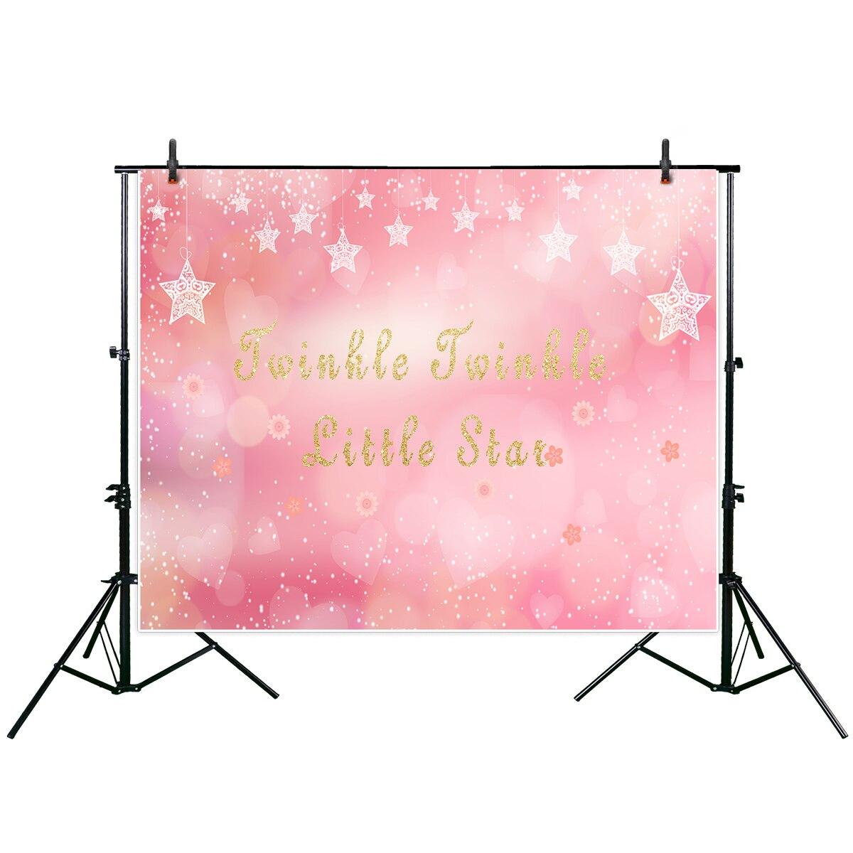 Allenjoy Twinkle Twinkle Little Star Photography Backdrop Pink