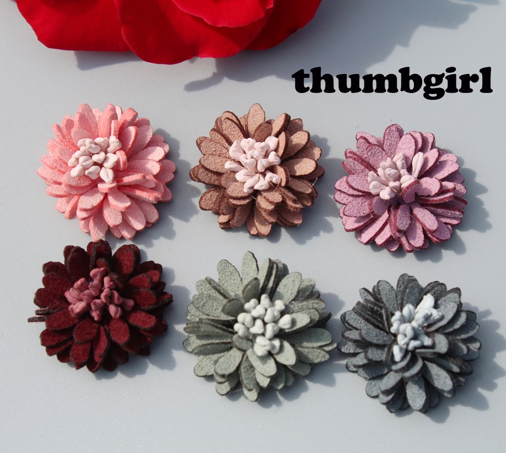 120ps/lot 2.3cm Mini Fabric Flowers For Girls Kids' Hair Accessories corsage and hairband diy material