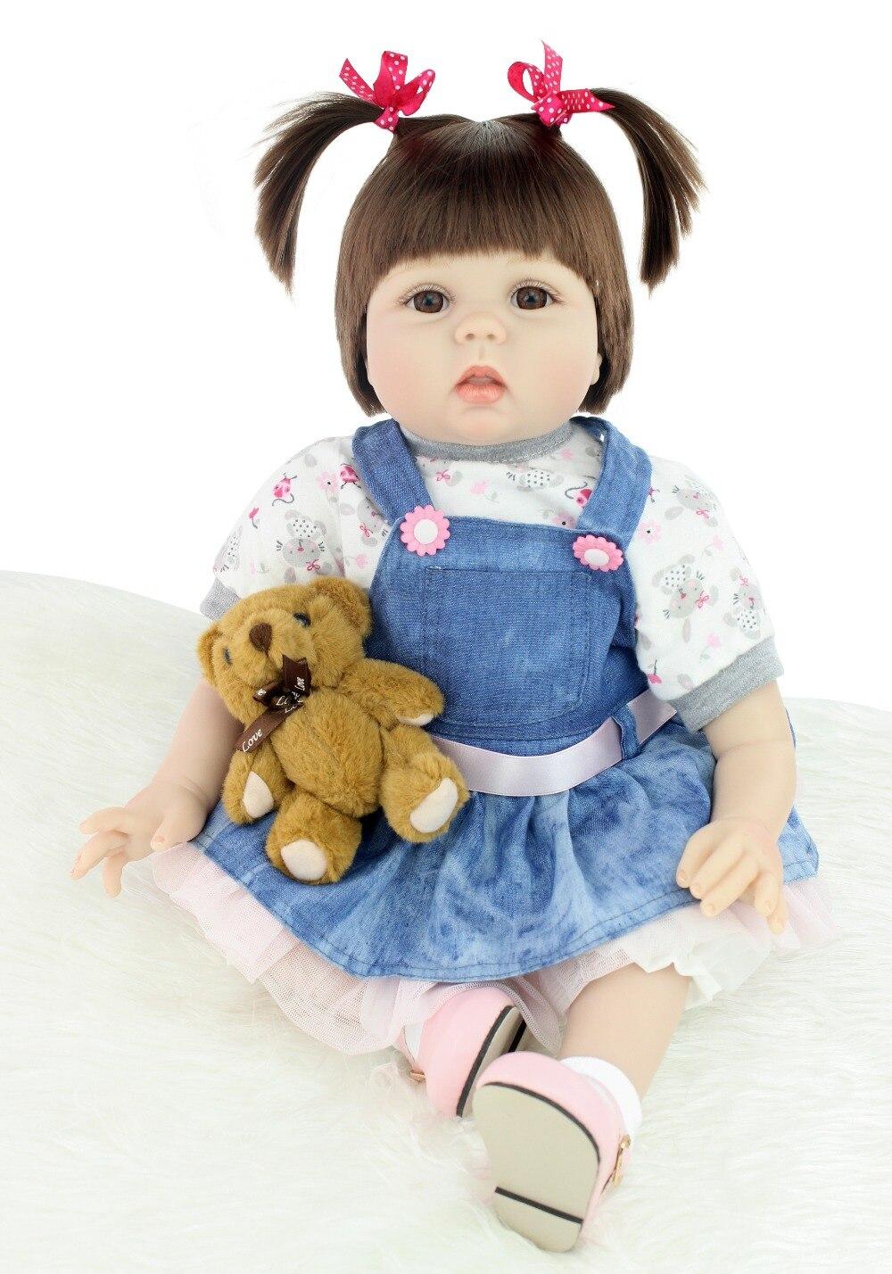 NPK 22 дюймов 55 см мягкие силиконовые возрождается куклы младенца реалистичной Реалистичного Baby Doll Игрушки для малышей