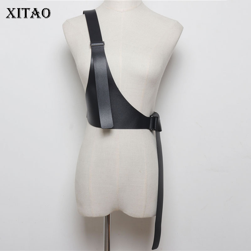 XITAO Single Shoulder Strap Women Cummerbunds Korea Fashion Wild Joker Joker Concave Shape P U 2019 Elegant Summer WLD2145