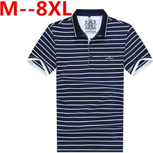 Plus size 9XL 8XL 7XL 6XL 5XL Summer New Arrival Men Polo Shirt Fashion Good Quality Classic Striped Homme Camisa Short Sleeves