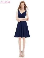 Коктейля стретч v-образным вырезом рукавов без лето высокого платье женщин для