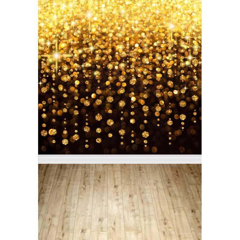 Customize vinyl cloth print gold sparkles photo studio backdrops for portrait photography studio backgrounds props F-303 12ft vinyl print cloth pink flower wall photography backdrops for photo studio portrait backgrounds photographic props f 1495