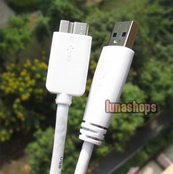 LN00356547cm White USB 3.0 Male Type A to Micro B Plug Super-Speed Cable Adapter Converter