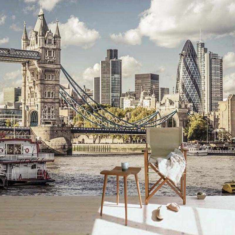 3D фотообои на заказ в европейском стиле, городской пейзаж, городской мост, гостиная, спальня, ТВ, фон, Настенные обои