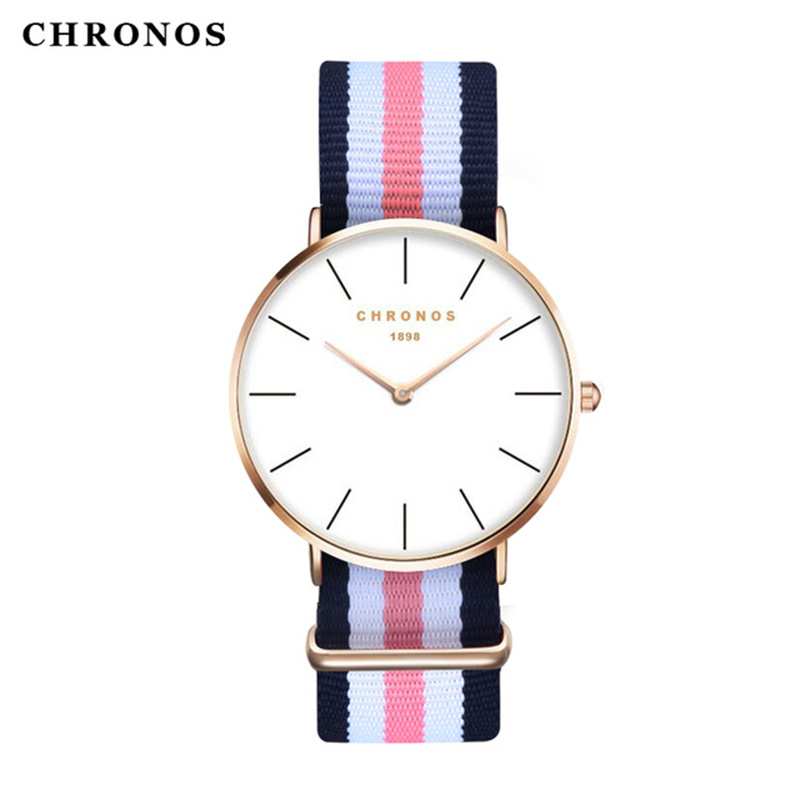 Brand CHRONOS Watches Men Women Fashion Casual Sport Clock Classical Nylon Male Quartz Wrist Watch Relogio Masculino Feminino  new top brand watches men women fashion casual sport clock classical nylon male quartz wrist watch relogio masculino feminino