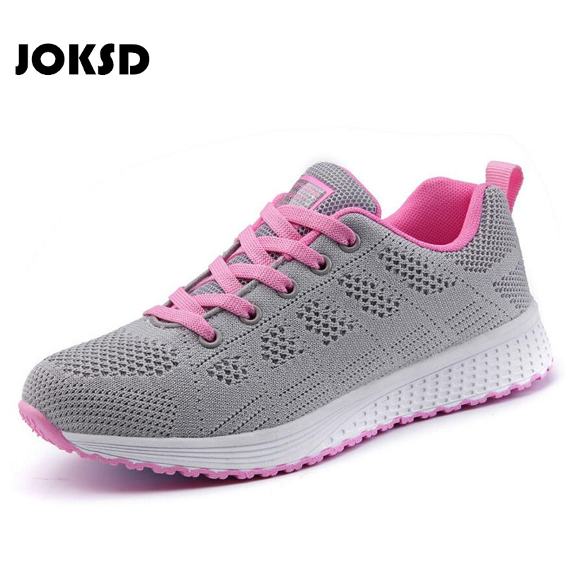 JOKSD Women Sneakers 2018 Summer Running Shoes Outdoor Sports Shoes Breathable high quality Walking Jogging Shoes Women W10