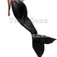 Женский латексный резиновый русалка юбка черный