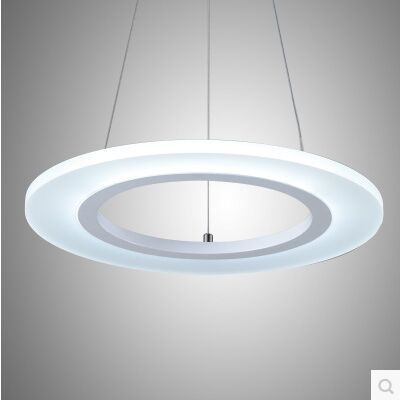 LED de mode acrylique annulaire salon lampe droplight contracté et contemporain chambre restaurant taille: 40 + 30 + 20 CM - 5