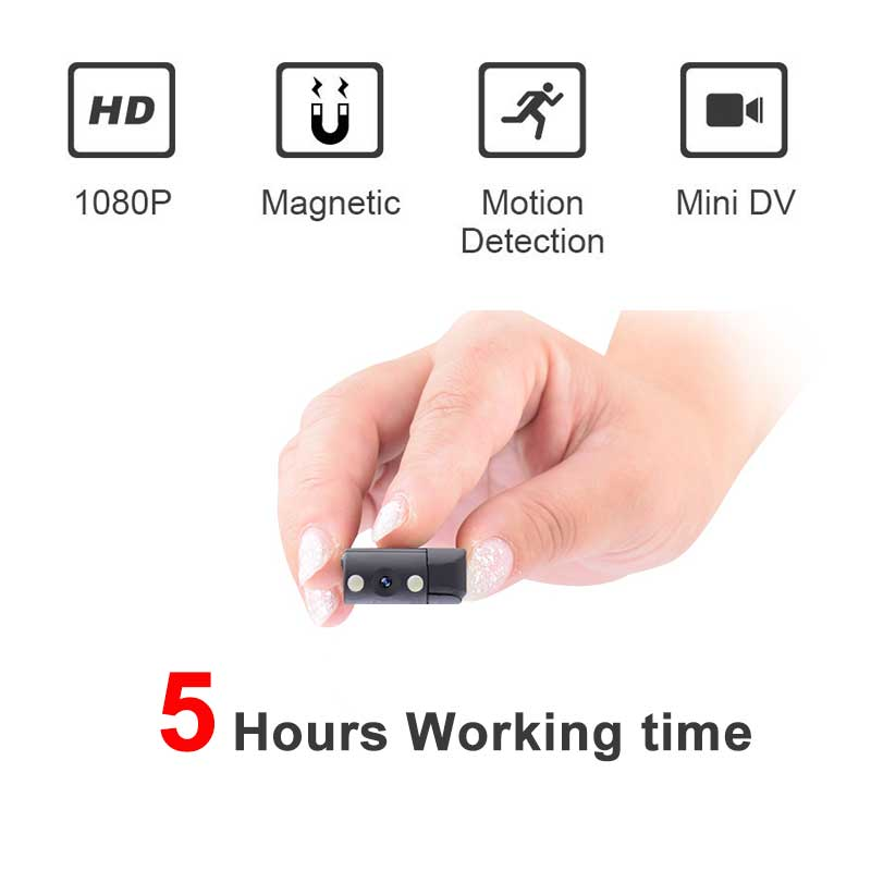 working 5 hours Portable Magnetic Mini camera Body Camera Mini Camcorder voice and Video Recorder with Motion Detection pk sq11