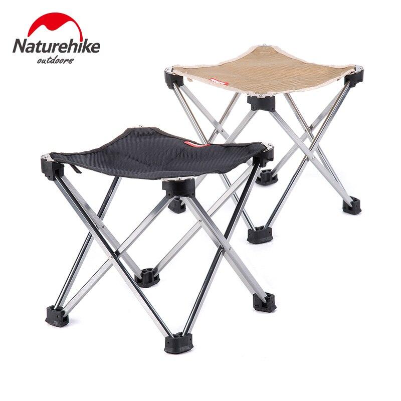 Taburete de Naturehike plegable Silla de barbacoa ultraligera sillas plegables portátiles Camping senderismo exterior respaldo taburete