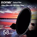 ZOMEI 58mm ND1000 Filter Pro 10 Stop HD MC Optical Glass Neutral Density ND 3.0 1000 Filter for Canon Nikon Sony Pentax Lens 58