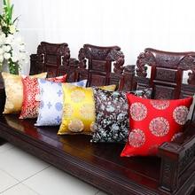 Классические жаккардовые рождественские чехлы на стулья, подушка, подушка, декоративная подушка для дивана, китайский Шелковый атласный чехол для подушки
