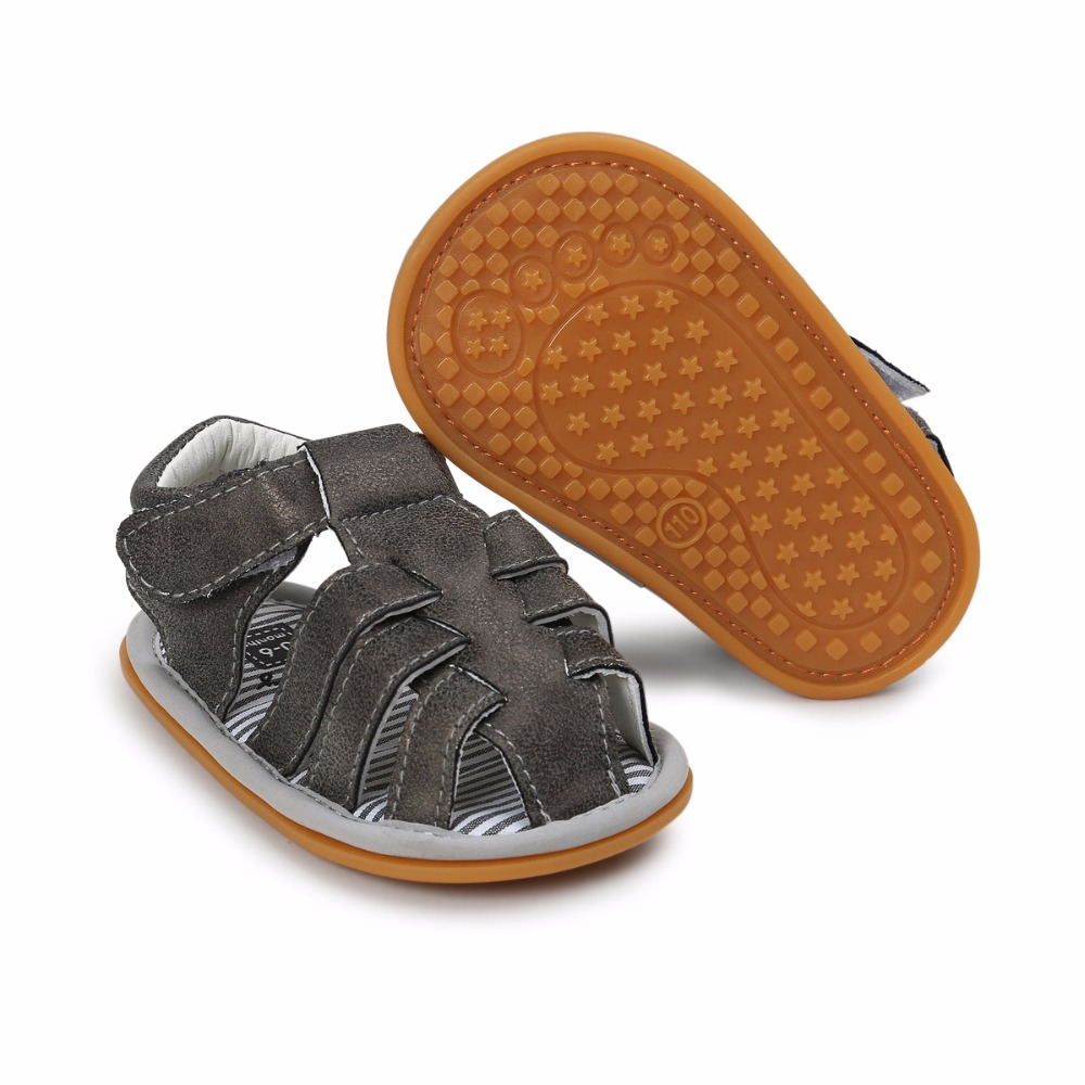 Black Color Summer Autumn Newborn Baby Boy Sandals Clogs Shoes Casual Breathable Hollow For Kids Children Toddler