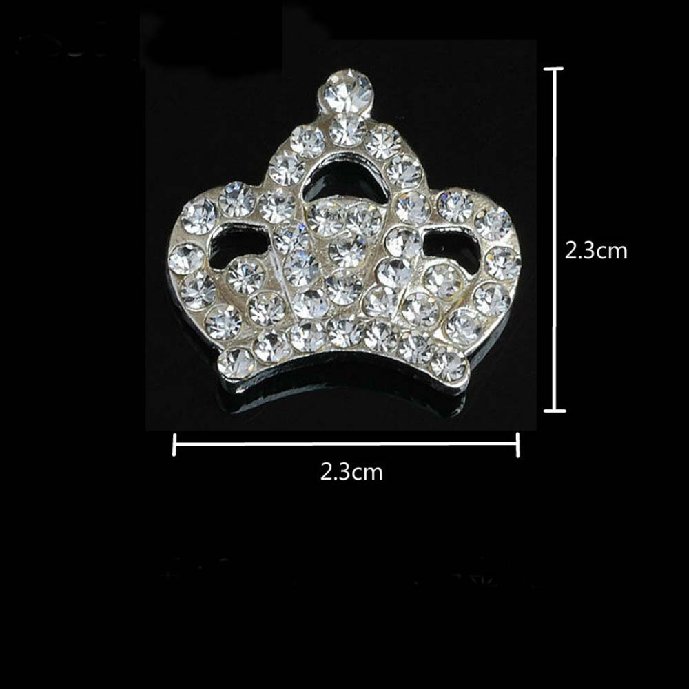 Pearl Crystal Imperial Crown Buttons Flatback Embellishment for Craft DIY  Hair Bow Wedding Shoes Decorative Buttons 10pcs lot-in Buttons from Home    Garden ... b46827ce2a39
