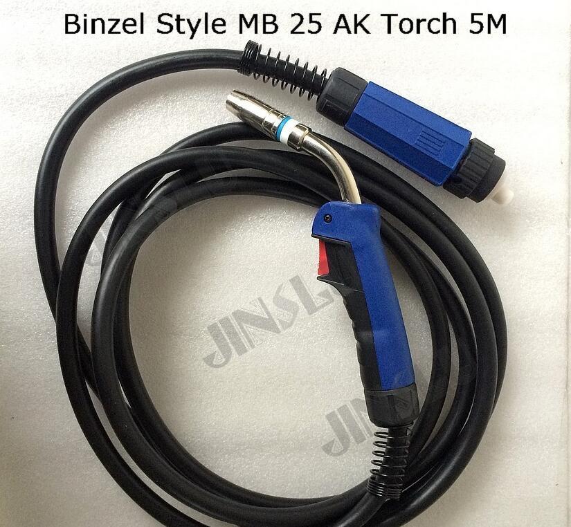MB25 25AK Welding Torch Gun 5M Air cooled Euro Quick Connector for MIG MAG Welding Machine Welder 1pcs JINSLU SALE1