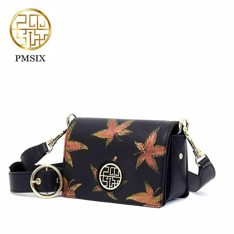 Pmsix 2019 Neueste Frauen Tasche Casual Floral Druck Pu Damen Schulter Tasche Hohe Qualität Zipper Langen Riemen Umhängetaschen Schultertaschen