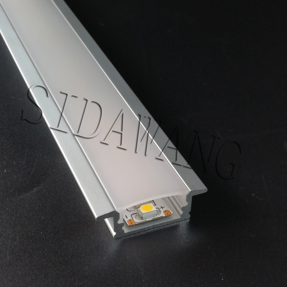 2 5m 2500mm piece Super slim 8mm surface mounting Anodized Aluminum led extrusion profile for kitchen