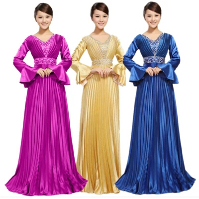 Special Occasion Bridemaids Modest Light Royal Blue Gold Formal Bridesmaid  Dresses With Sleeves Long Free Shipping 8c208cb9ab7b