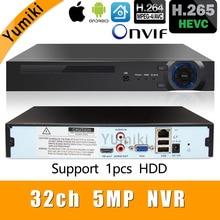 H.265 +/H.264 8ch * 4 K/32ch * 5.0MP/32ch * 1080 P NVR เครือข่าย Vidoe 1080 P/720 P กล้อง IP ONVIF CMS XMEYE รองรับติดตั้ง 1HDD