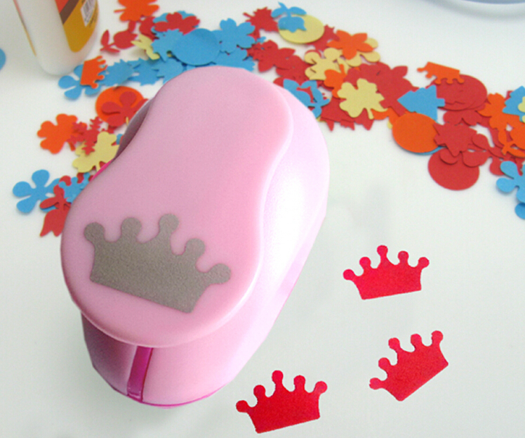 Free Ship 1'' Crown Paper Cutter Scrapbooking Punches Paper Punch Eva Foam Punch Child Diy Craft Punch Scrapbook S293714