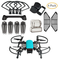 6 in 1 Kit Accessories Propeller Guard with Foldable Landing Gear, Lens Hood, Gimbal Camera Guard, Propellers for DJI SPARK