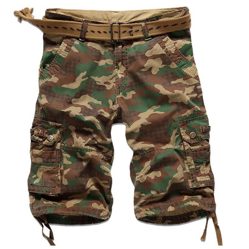 2017 Mens Casual Camouflage Shorts Men Loose Cargo Short Pants Men Large Size 29-38 Multi-pocket Military Short Homme