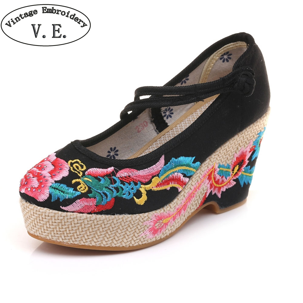Buy embroidered heels and get free shipping on AliExpress.com 26574045dbd6