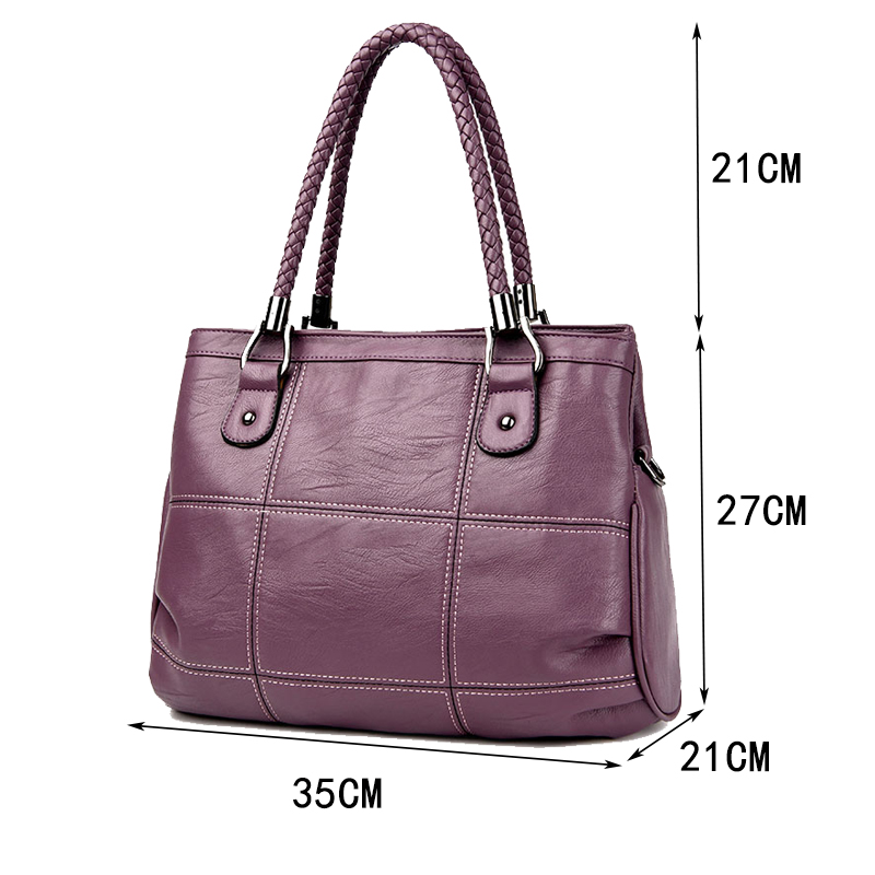 Women Messenger Bags Female Casual Tote Bag Solid PU Leather Handbag Large Shoulder Bag Famous Brand Bolsa Feminina in Shoulder Bags from Luggage Bags
