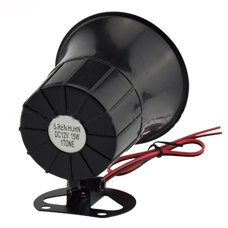 High Quality Outdoor DC 12V Wired Loud Alarm Siren Horn With Bracket For Home Security Protection System
