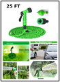 Garden Watering Hose Reels 25FT with Water Spray Gun Green Blue Expandable Magic X Hose 7.5M Garden Hose  for Watering
