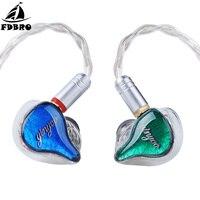 FDBRO HQ10 10BA in Ear Earphone Custom Made Balanced Armature Around Ear Earphone Headset Earbuds With MMCX For HIFI Music