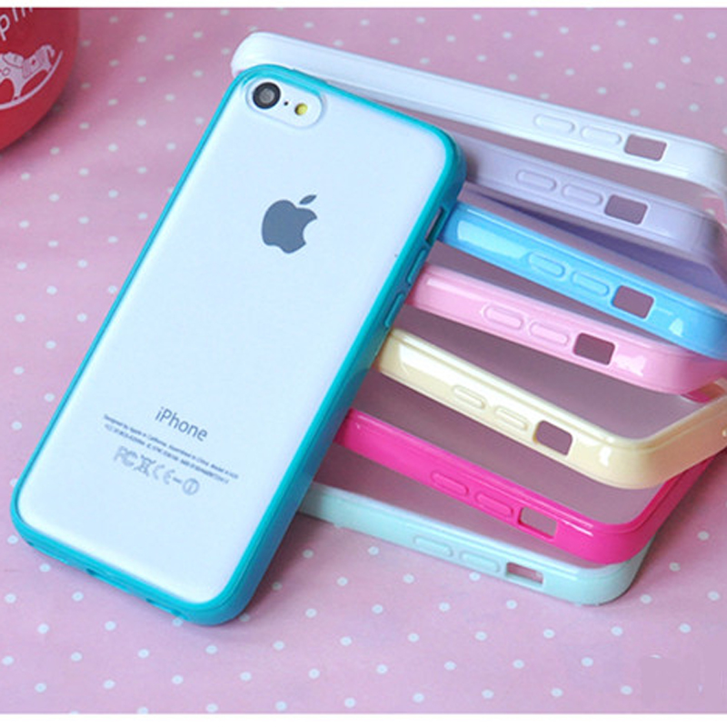 10 Colors Clear Matte Case For Coque iPhone 5c 4 4s 5 5s se 6 6s 6plus 7 7plus Cases TPU Silicone+Plastic Back Cover Capinha