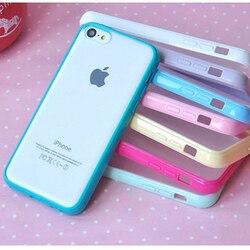 10 couleurs Clair Étui Mat pour Coque iPhone X 4 4s 5 5s se 6 6s 6plus 7 8 plus Cas TPU Silicone + Couverture Arrière En Plastique Capa