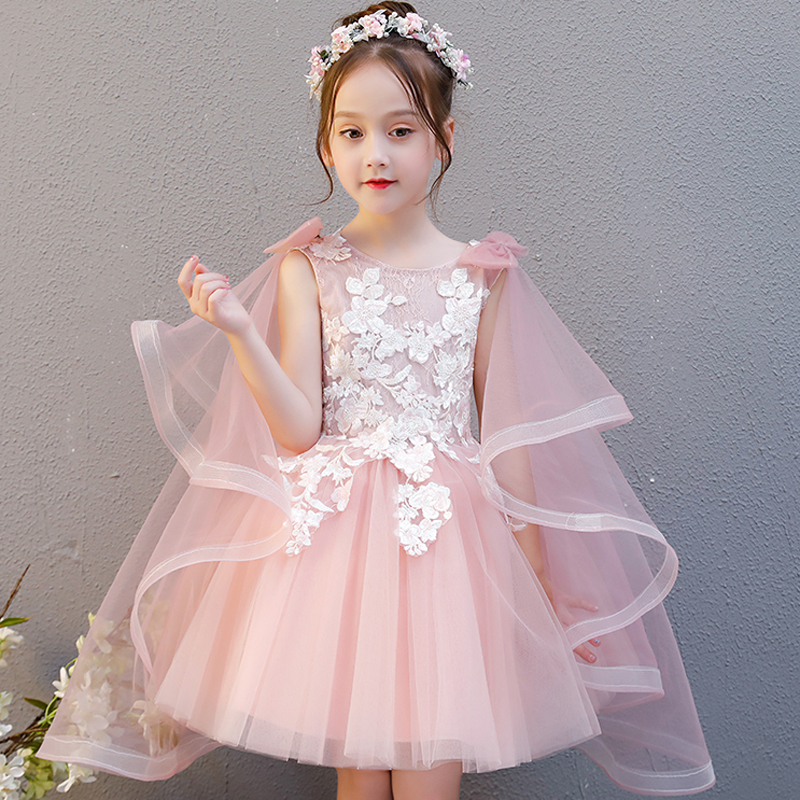 Children Girls Elegant Princess Baby Birthday Princess Dress Kids Flowers Wedding Party Ball Gowns Prom Pageant Dress for Girl|Dresses| |  - title=