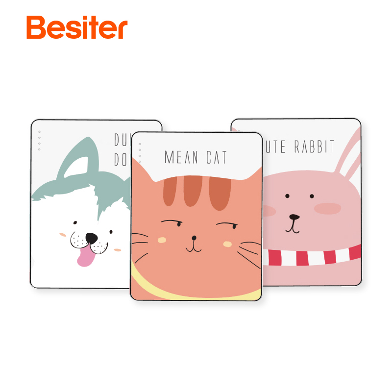Besiter 10000mah Poverbank Quick Charge Portable Type-C Micro input Small External Power Bank Two USB output for Xiaomi Samsung