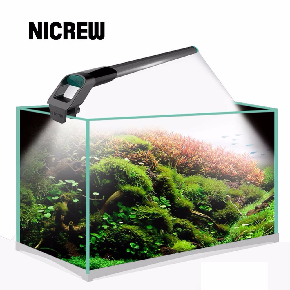 Nicrew JIYIN Fish tank lampor SMD 220v / 50-60Hz Aquarium LED Belysning Led Aquarium Lamp Light Lamp 1.1cm Vattentät Dyklampor