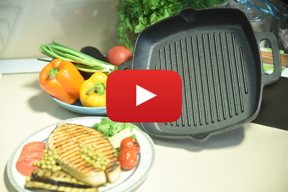 VETTA GRILL CAST IRON Skillet Non-stick frying pan grill cast iron 808-004