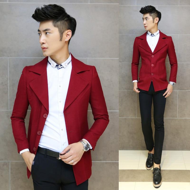Aliexpress.com : Buy New 2014 Brand Red Yellow Men Winter Long ...